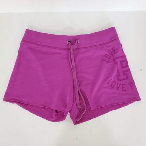 VS PINK Athletic Drawstring Shorts Violet Sz XS